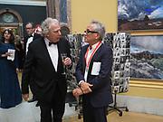 RICHARD BURDETT; SIR ANISH KAPOOR, Royal Academy of Arts Annual Dinner. Burlington House, Piccadilly. London. 6 June 2017