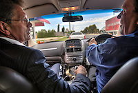Victorian Premier Ted Baillieu after one year in office. Leaving Geelong with driver John. Pic By Craig Sillitoe CSZ/The Sunday Age.21/11/2011 melbourne photographers, commercial photographers, industrial photographers, corporate photographer, architectural photographers, This photograph can be used for non commercial uses with attribution. Credit: Craig Sillitoe Photography / http://www.csillitoe.com<br /> <br /> It is protected under the Creative Commons Attribution-NonCommercial-ShareAlike 4.0 International License. To view a copy of this license, visit http://creativecommons.org/licenses/by-nc-sa/4.0/.