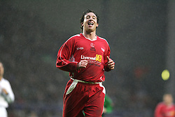 LIVERPOOL, ENGLAND - SUNDAY MARCH 27th 2005: Liverpool Legends' Robbie Fowler rues a miss against the Celebrity XI during the Tsunami Soccer Aid match at Anfield. (Pic by David Rawcliffe/Propaganda)