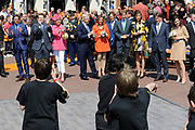 Koninginnedag 2011 in de Limburgse plaats Weert // Queen's Day 2011 in the southern of Holland ( Limburg). The Royal family is visiting the city of Weert.<br /> <br /> Op de foto / On the photo:  The Royal Family - Prins Bernhard en Prinses Annette , Prins Pieter-Christiaan en Prinses Anita , Prins Floris en  Prinses Aimée  , Prins Maurits en Prinses Marilène , Prinses Laurentien en Prins Constantijn , Prins Bernhard en Prinses Annette , Prinses Magriet en Mr. Pieter van Vollenhoven