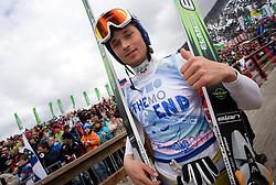The end of a career of forrunner Brane Iskra during Flying Hill Team Second Round at 4th day of FIS Ski Flying World Championships Planica 2010, on March 21, 2010, Planica, Slovenia.  (Photo by Vid Ponikvar / Sportida)