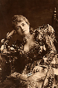 Helena Modjeska (1840-1909) Polish actress who appeared in London 1880-1882 and in 1890.  Here as Portia in the comedy 'The Merchant of Venice' by William Shakespeare. Photogravure published c1895.