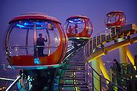 Chine, Guangdong, Guangzhou ou Canton, ville nouvelle de Zhujiang, TV tower, funiculaire // China, Guangdong province, Guangzhou or Canton, Zhujiang new city, TV Tower, Ferris Wheel