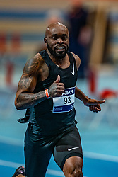 Churandy Martina in action on the 60 meters during limit matches to be held simultaneously with the Dutch Athletics Championships on 13 February 2021 in Apeldoorn