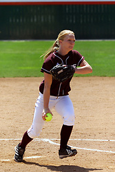 28 April 2007: Saluki starting pitcher Cassidy Scoggins. The Southern Illinois Salukis played the Illinois State Redbirds on the campus of Illinois State University in Normal Illinois.