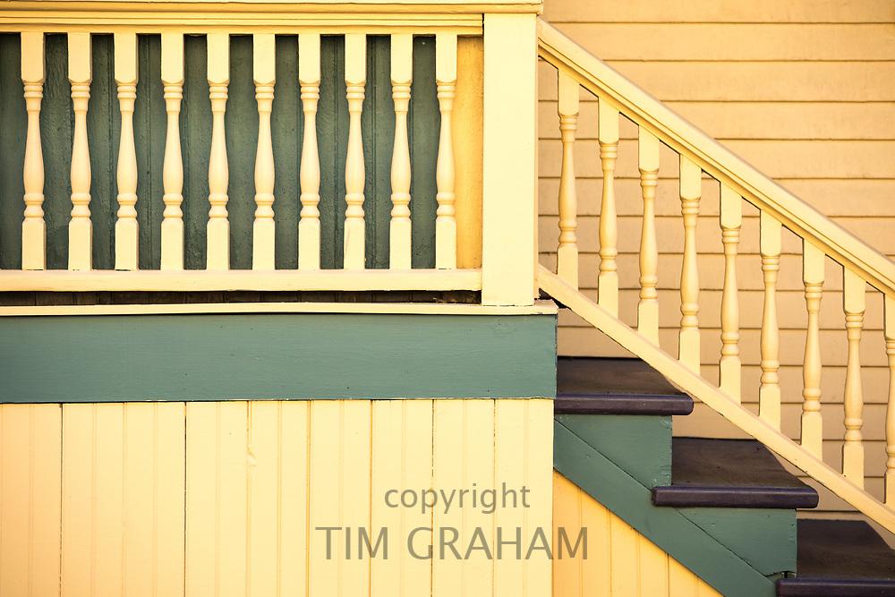 Traditional wood clapboard home in Newport, Rhode Island, USA