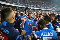 Esultanza Napoli, celebration, Gonzalo Higuain Napoli,   <br /> Napoli 14-05-2016 Stadio San Paolo<br /> Football Calcio Serie A 2015/2016 Napoli - Frosinone<br /> Foto Cesare Purini / Insidefoto