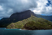 Hiva Oa, Marquesas Islands, French Polynesia.<br /> Hiva Oa is the second largest island in the Marquesas Islands, an overseas territory of France in the Pacific Ocean.