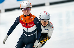 Yara van Kerkhof in action on the 500 meter during ISU World Cup Finals Shorttrack 2020 on February 14, 2020 in Optisport Sportboulevard Dordrecht.