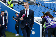 Southampton midfielder James Ward-Prowse (16) pre match pitch warm up during the Premier League match between Brighton and Hove Albion and Southampton at the American Express Community Stadium, Brighton and Hove, England on 30 March 2019.