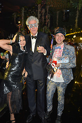 Left to right, COUNTESS MAYA VON SCHONBURG, HENRY WYNDHAM and GARRETT MOORE at The Animal Ball presented by Elephant Family held at Victoria House, Bloomsbury Square, London on 22nd November 2016.