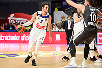Real Madrid's Rudy Fernandez and Brose Bamberg's Daniel Theis during Turkish Airlines Euroleague between Real Madrid and Brose Bamberg at Wizink Center in Madrid, Spain. December 20, 2016. (ALTERPHOTOS/BorjaB.Hojas)
