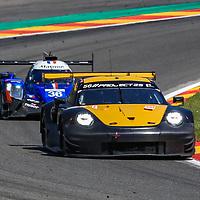 #56, Team Project 1, Porsche 911 RSR, LMGTE Am, driven by:  Jorg Bergmeister, Patrick Lindsey, Egidio Perfetti, FIA WEC 6hrs of Spa 2018, 05/05/2018,
