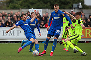 AFC Wimbledon attacker Adam Roscrow (10) shoots at goal during the EFL Sky Bet League 1 match between AFC Wimbledon and Bolton Wanderers at the Cherry Red Records Stadium, Kingston, England on 7 March 2020.