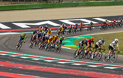 Peloton during Men Elite Road Race at UCI Road World Championship 2020, on September 27, 2020 in Imola, Italy. Photo by Vid Ponikvar / Sportida