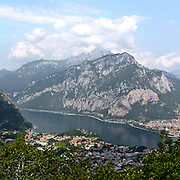Lago di Garlate visto dal Monte Barro..Garlate lake viewed from Monte Barro