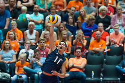 09-08-2019 NED: FIVB Tokyo Volleyball Qualification 2019 / Belgium 0 USA, Rotterdam<br /> First match pool B in hall Ahoy between Belgium vs. USA (1-3) for one Olympic ticket / Micah Christenson #11 of USA