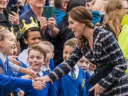 The Duke and Duchess of Cambridge visit the National Football Museum in Manchester<br /> <br /> (c) John Baguley | Edinburgh Elite media