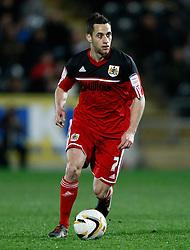 Bristol city's Sam Baldock shoots at goal- Photo mandatory by-line: Matt Bunn/JMP  - Tel: Mobile:07966 386802 19/04/2013 - Hull City v Bristol City - SPORT - FOOTBALL - Championship -  Hull- KC Stadium