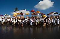 """The Melasti Ceremony on Padanggalak Beach, Bali, Indonesia<br /> Available as Fine Art Print in the following sizes:<br /> 08""""x12""""US$   100.00<br /> 10""""x15""""US$ 150.00<br /> 12""""x18""""US$ 200.00<br /> 16""""x24""""US$ 300.00<br /> 20""""x30""""US$ 500.00"""