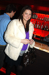 DAVINA CATT at an Easter party hosted by Charlie Gilkes under the umbrella of his new PR/Events Company; 'Chic Vie' at trendy South Kensington Nightclub; 'Boujis' that is a favourite with Princes William and Harry and a host of other celebrities on 21st March 2005. Guests enjoyed a fruit martini reception on arrival and danced the night away until the early hours<br /><br />NON EXCLUSIVE - WORLD RIGHTS