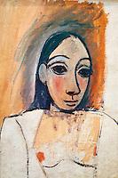 France, Paris (75), Musee Picasso, Buste de femme (étude pour Les Demoiselles d'Avignon), 1907 // France, Paris, Picasso museum, Bust of woman (Study for Les demoiselles d'Avignon), 1907