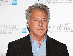 © Licensed to London News Pictures. 15/10/2012. London, U.K..Dustin Hoffman at a Photocall today (15/10/2012) at the Empire theatre FOR THE BFI London film festival, Leicester Square for the film 'Quartet' directed by Dustin Hoffman and starring Billy Connolly, Pauline Collins, Tom Courtney, Sheridan Smith and Maggie Smith..Photo credit : Rich Bowen/LNP