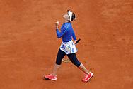 ELINA SVITOLINA (UKR) won the game against Caroline GARCIA (FRA), celebration during the Roland Garros 2020, Grand Slam tennis tournament, on October 4, 2020 at Roland Garros stadium in Paris, France - Photo Stephane Allaman / ProSportsImages / DPPI