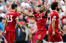 Daniel Sturridge of Liverpool celebrates after scoring his sides fourth goal  - Mandatory by-line: Matt McNulty/JMP - 27/08/2017 - FOOTBALL - Anfield - Liverpool, England - Liverpool v Arsenal - Premier League