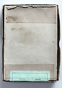 old photography glass plates box