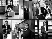 A collection of portraits of attorneys from the Edelson McGuire law firm in Chicago.