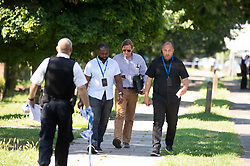 ©Licensed to London News Pictures 26/06/2020<br /> Orpington, UK. Police on scene. Coronavirus lockdown is over and crime is back on our streets. A gang of six youths on bikes have attacked a man in Orpington,South East London this afternoon. Police, paramedics and the London Air Ambulance attended the scene to find a man with head injuries and covered in blood. Photo credit: Grant Falvey/LNP