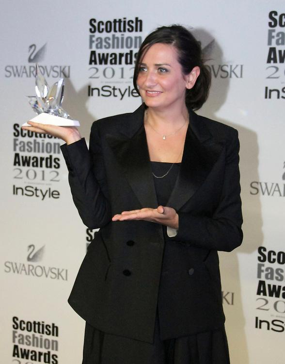 Faye McLeod attends the Scottish Fashion Awards, Glasgow, UK. 12/06/2012 Vito Andreoni/CatchlightMedia