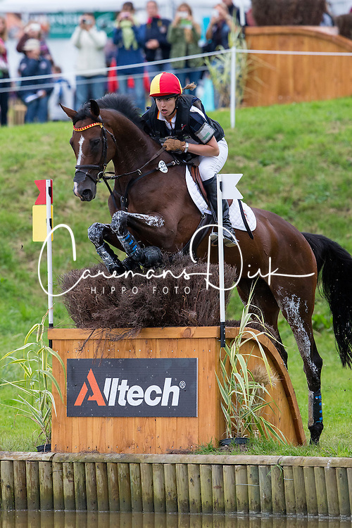 Cristina Pinedo Sendagorta, (ESP), Helena XII - Eventing Cross Country test- Alltech FEI World Equestrian Games™ 2014 - Normandy, France.<br /> © Hippo Foto Team - Leanjo de Koster<br /> 30/08/14