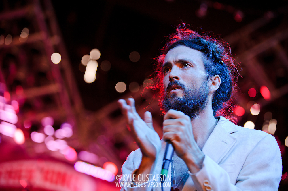 Edward Sharpe & The Magnetic Zeros perform at the 2010 Virgin Mobile Festival at merriweather Post Pavilion.