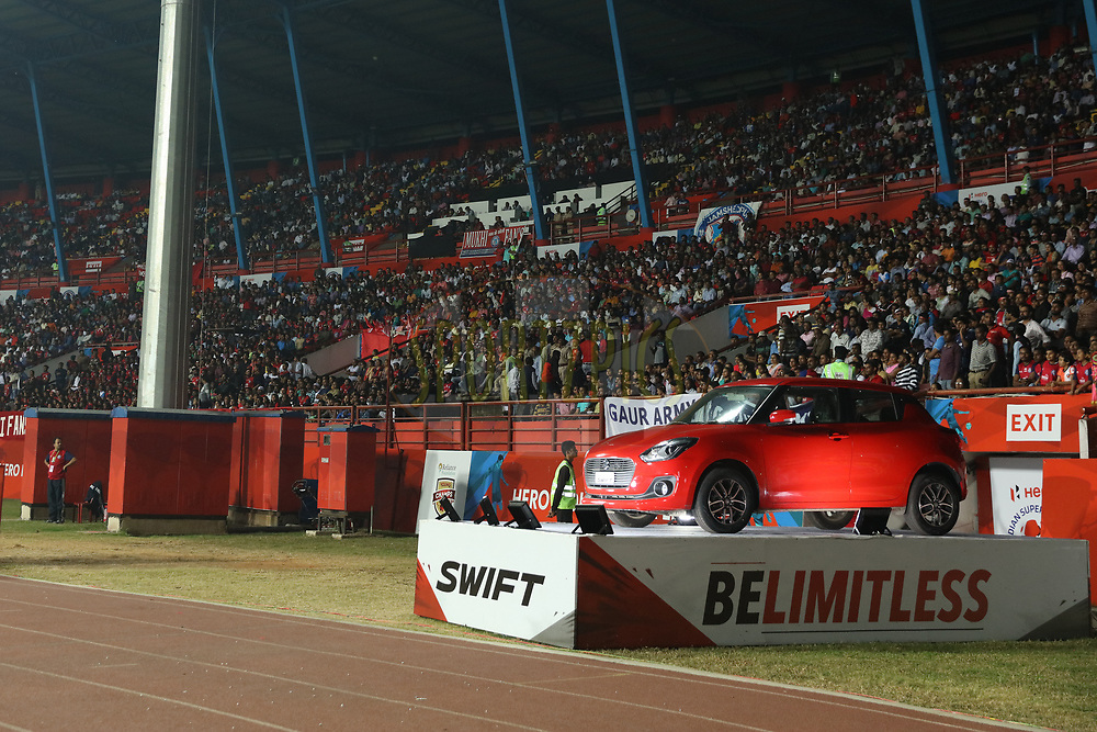 Maruti car on display  during match 25 of the Hero Indian Super League 2018 ( ISL ) between Jamshedpur FC and FC Goa held at JRD Tata Sports Complex, Jamshedpur, India on the 1st November  2018<br /> <br /> Photo by Saikat Das /SPORTZPICS for ISL
