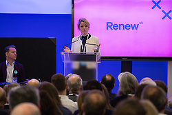 London, UK. 24th November, 2018. Annabel Mullin, Leader of Renew UK, a new centrist political party launched in February 2018, addresses its inaugural National Assembly at Westminster Central Hall. Led by Annabel Mullin, James Torrance and James Clarke, Renew UK has signed up 100 candidates ready to stand in future UK elections based on a wide-ranging programme of reform.