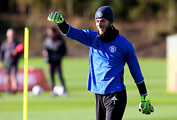 David De Gea of Manchester United  - Mandatory by-line: Matt McNulty/JMP - 19/10/2016 - FOOTBALL - Manchester United - Training session ahead of Europa League game against Fenerbahce