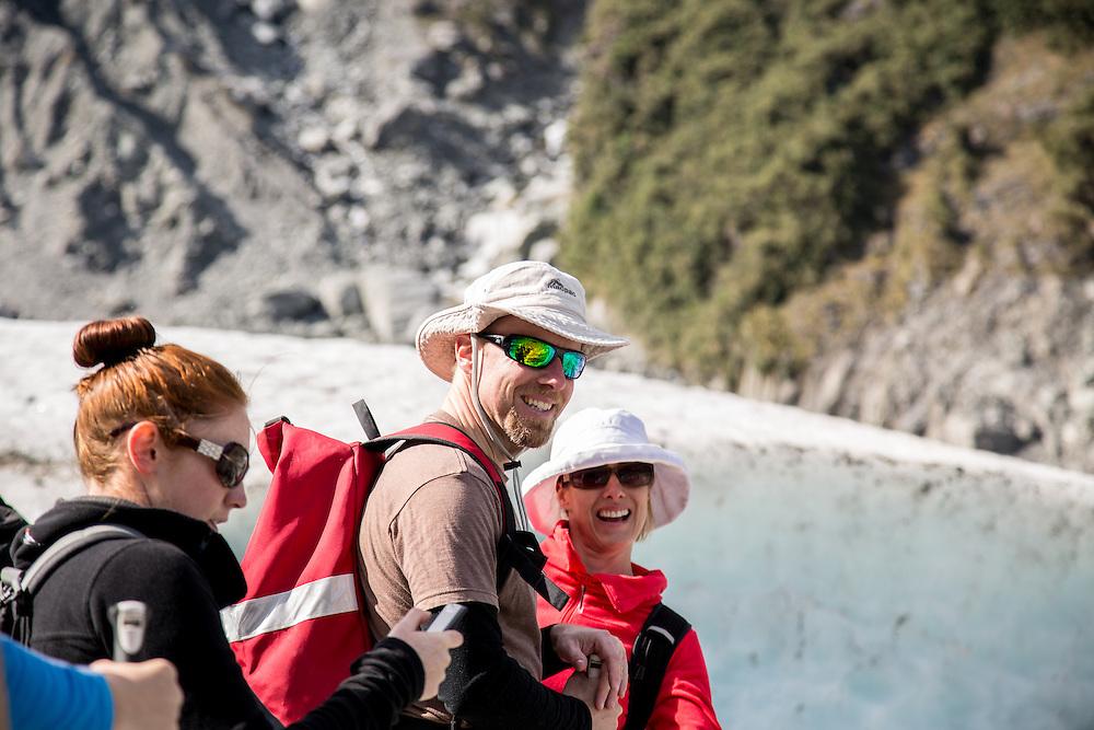 Matt and Katrina on Fox Glacier.