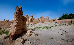 A ruined, but still occupied,  kasbah near  Tazenakht, southern Morocco, Africa<br /> <br /> (c) Andrew Wilson   Edinburgh Elite media