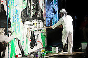 The Zhou Brothers live painting with the Chicago Sinfonietta at the Zhou B Art Center in Bridgeport, Chicago.