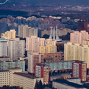 Le fameux monument dedié au Parti des Travailleurs, colonne vertébrale de la société Nord Coréenne.