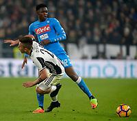 Paulo Dybala Juventus, Amadou Diawara Napoli <br /> Torino 28-02-2017 Juventus Stadium Calcio Coppa Italia 2016/2017 <br /> Juventus - Napoli <br /> Foto Filippo Alfero Insidefoto