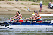 Crew: 79 - Betts / Primmer - Tideway Scullers School - W MasE 2x <br /> <br /> Pairs Head 2020