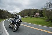 Bill Dragoo chasing curves along Highway 16 in central Arkansas.
