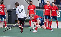 AMSTELVEEN -  Felix Gulinck (Tilburg)  tijdens de hockey hoofdklasse competitiewedstrijd  heren, Amsterdam-HC Tilburg (3-0).  COPYRIGHT KOEN SUYK