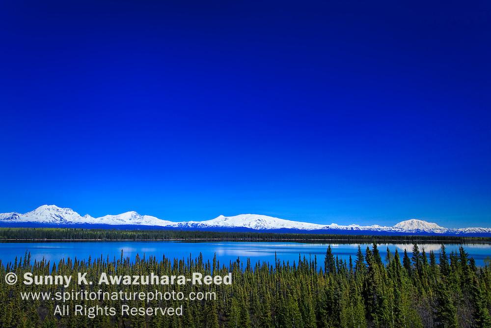 Mt. Sanford, Mt. Drum, Mt. Wrangell, Mt. Blackburn, Willow Lake, Wrangell - St. Elias Park, Alaska