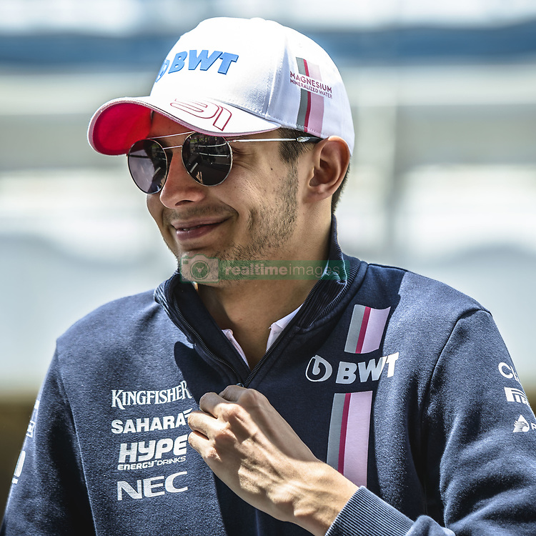 May 13, 2018 - Barcelona, Catalonia, Spain - ESTEBAN OCON (FRA), Force India, is presented to the crowd prior the Spanish GP at Circuit de Barcelona - Catalunya (Credit Image: © Matthias Oesterle via ZUMA Wire)