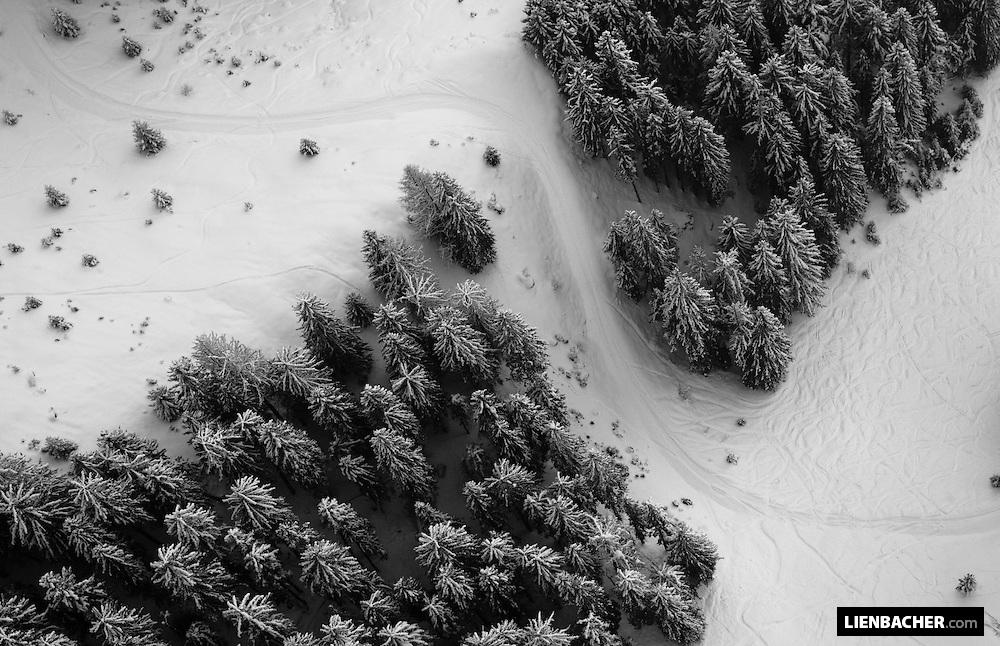 shot from a tandem-paraglider
