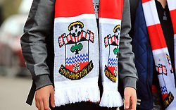 Close up of a Southampton scarf before the game